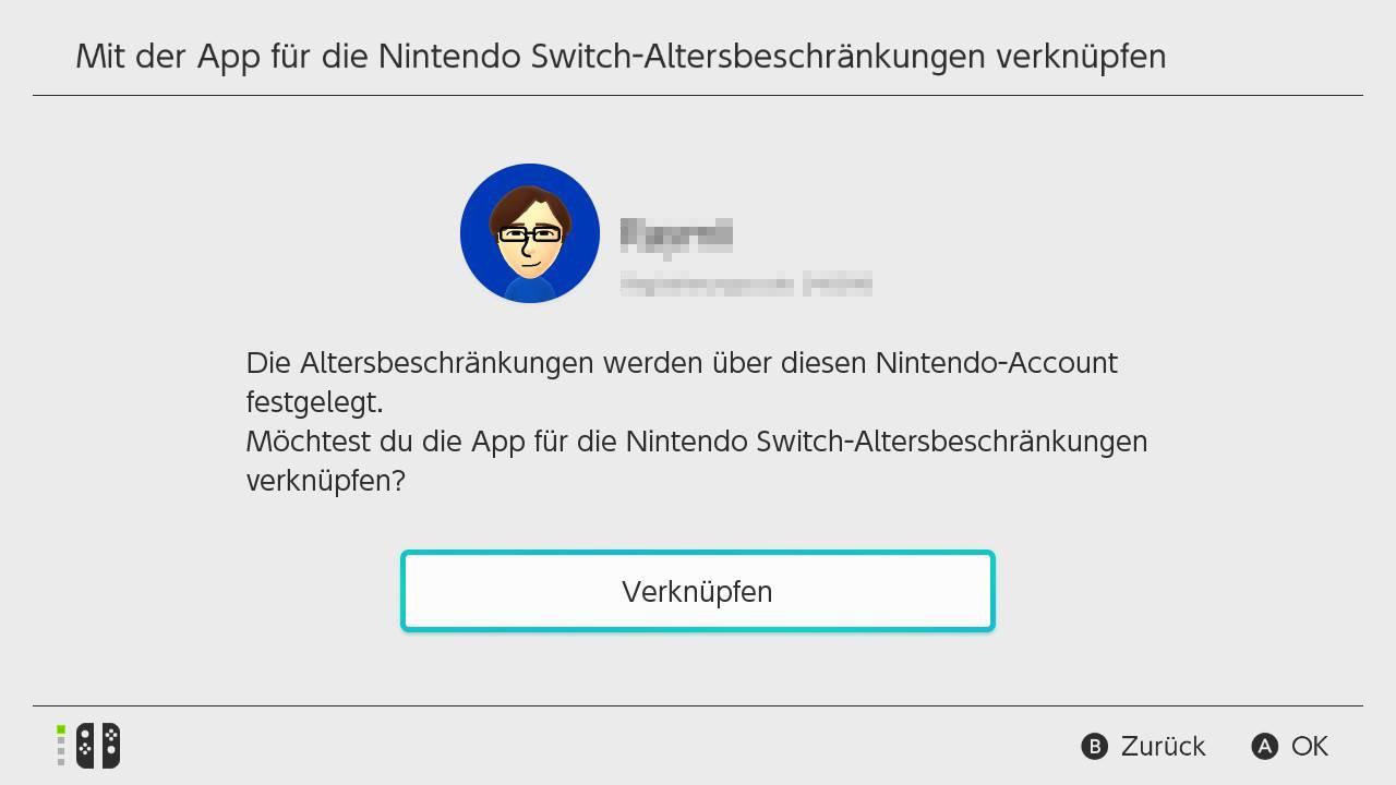 Nintendo Switch-App verknüpfen